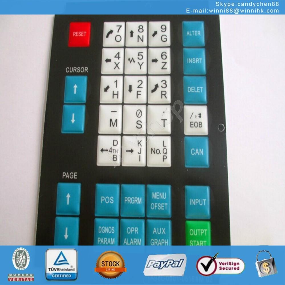 new Fanuc 31I 21I 14I A86L-0001-0326#ENG Membrane Keypad 90 days warranty