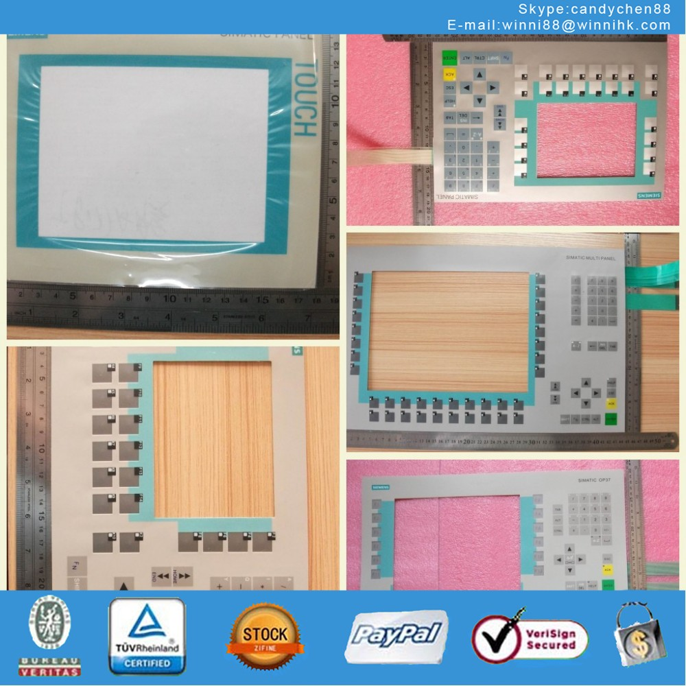 Membrane Keypad Touch for Industrial monitor SIMATIC PANEL OP7 6AV3 607-1JC30-0AX1