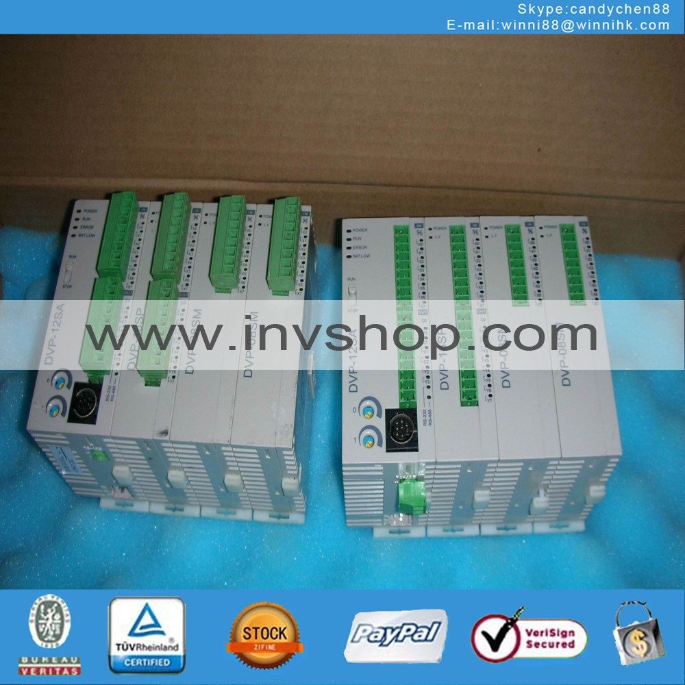 DELTA DVP-12SA+DVP-16SP+DVP-08SMX2 Used PLC  60 days warranty