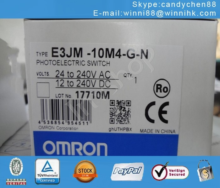PHOTOELECTRIC 700MM OMRON E3JM-DS70M4T-G NEW OP90 SWITCH