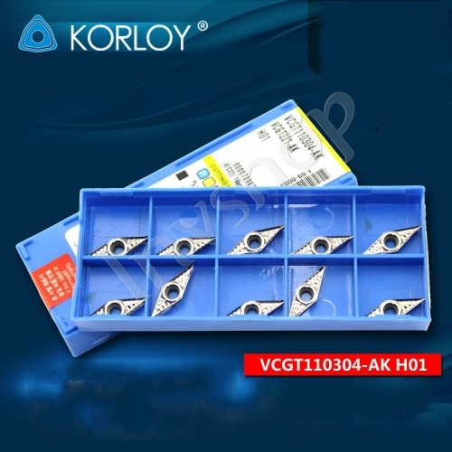 10PCS/Box VCGT110304-AK Korloy H01 Carbide Inserts