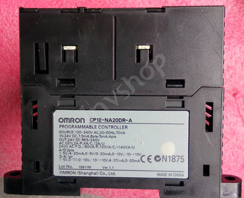 CP1E-NA20DR-A PLC CPU for Omron Sysmac 20I/O 12DI 8DO Relay